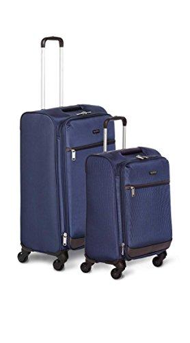 AmazonBasics Softside Spinner Luggage - 2 Piece Set (21'', 29''), Navy Blue by AmazonBasics