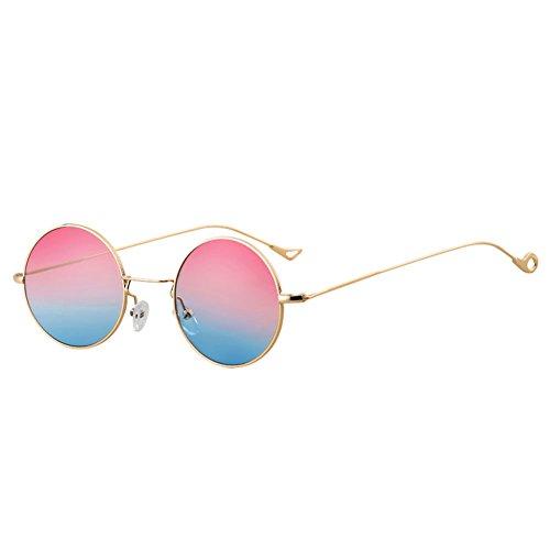 Gafas para Gafas Sol UV Color 4 de de DT Mujer Protección con Redondas 2 wYzfgdqdnx