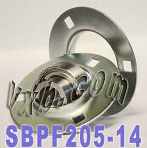 SBPF205-14 Pressed Steel Housing Bearing Unit 3-Bolt Flanges Mounted