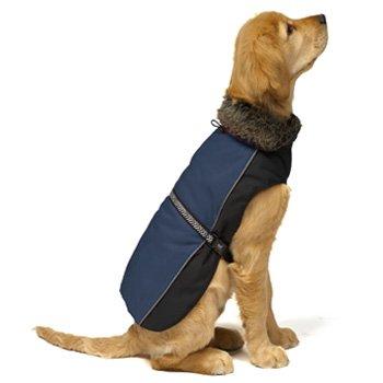 Dog Gone Smart Aspen Parka Marine Dog Jacket, 14-Inch, My Pet Supplies