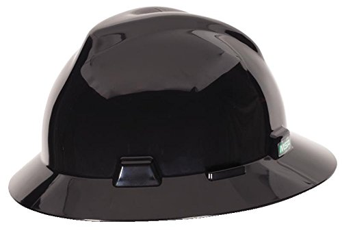 MSA C217374 Polyethylene V-Gard Fas-Trac Suspension Hat, Black