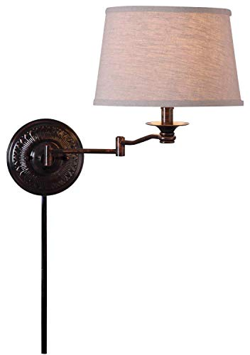 Kenroy Home 32215CBZ Riverside Swing Arm Floor Lamp, 59 Inch Height, 24 Inch Extension, Copper Bronze -