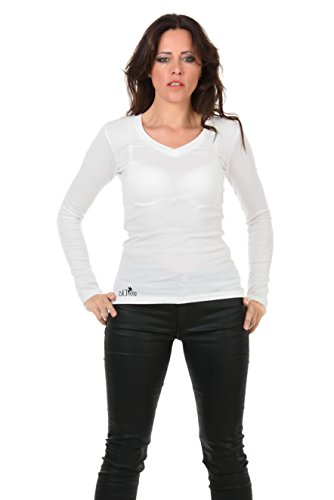 Camiseta Camisa d de manga para mujer 3elfen larga de de SnHCfW1wSq