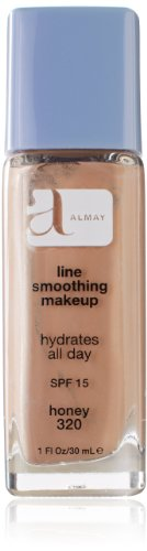 [Almay Line Smoothing Makeup with SPF 15, Honey 320, 1-Ounce Bottle] (Line Smoothing Liquid Makeup Foundation)