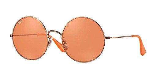 Ray Ban Womens Metal Non Polarized Iridium Round Sunglasses  Rb3592   Shiny Copper  55 Mm