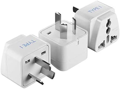Type I Safe Grounded Perfect for Cell Phones 3 Pack CT-16 China Travel Adapter Plug by Ceptics with Dual USA Input Australia Laptops - Ultra Compact Camera Chargers and More New Zealand