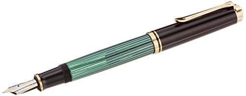 PELIKAN Souveran M800 Fountain Pen- Extra Fine, Black/Green (995670) by Pelikan