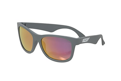 Aces fueled by Babiators Boys Aces Navigator Sunglasses, Galactic Gray with Pink Lenses, One Size - Gray Lenses
