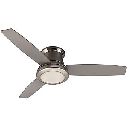 Harbor breeze sail stream 52 in brushed nickel flush mount indoor harbor breeze sail stream 52 in brushed nickel flush mount indoor ceiling fan with light aloadofball Gallery