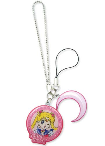 (Sailor Moon - Sailor Moon & Symbol Metal Cell Phone Charm)