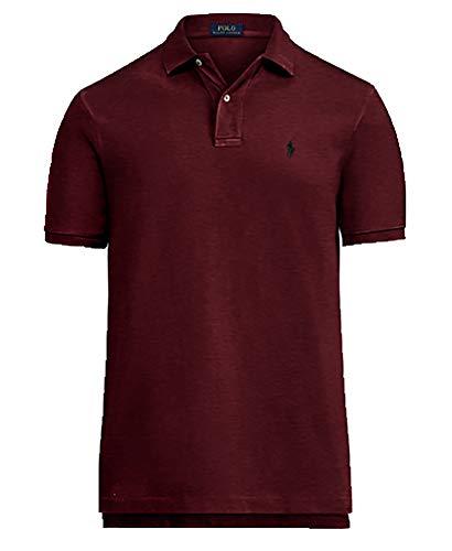 Polo Ralph Lauren Men's Classic Fit Mesh Polo Shirt (Large, Classic Wine) ()