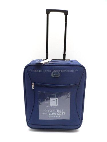 Trolley Clacson cm. 50 x 40 x 20 Idoneo EASYJET Bagaglio a mano Semirigido Impermeabile Idoneo Low Cost (BLU)