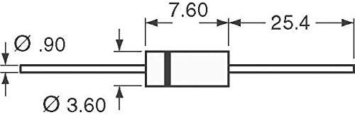 P6KE51CA-TP Pack of 100 TVS DIODE 43.6V 70.1V DO15