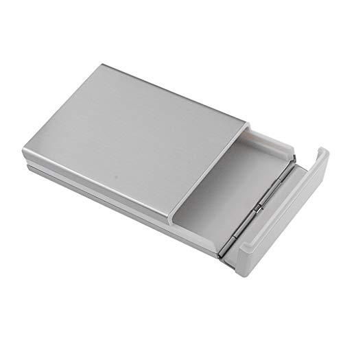 Lunghe Organizzatore Fityle Sigarette Capacità F Antipolvere 20 Custodia Portasigarette Argento Y07Bdq