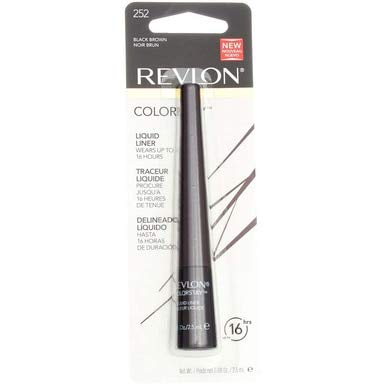 Revlon ColorStay Liquid Liner Eye Makeup, Black-Brown [252], 0.08 oz (Pack of 2)