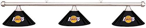 Imperial NBA LA Los Angeles Lakers Black Metal Shade/Chrome Bar Billiard Pool Table Light