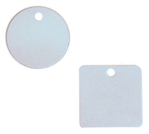 Accuform TDB356 Aluminum Blank Identification Tag, Square, 18 Gauge, 2'' L x 2'' W (Pack of 100)