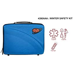 Lifeline 4390AAA AAA Severe Weather Road Safety Kit-66 Pieces-Featuring Emergency Folding Shovel, Fleece Set, Fire Starter, Flashlight and More