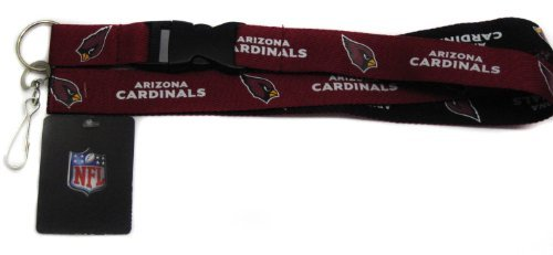 Pro Specialties Group NFL Arizona Cardinals Two-Tone Lanyards, Red/Black, One ()