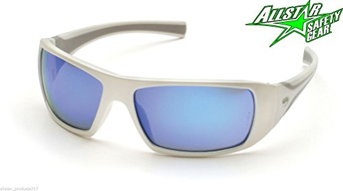 Lunarland Goliath Ice Blue Mirror Lens Safety Glasses Sw5665D Motorcycle Sun White