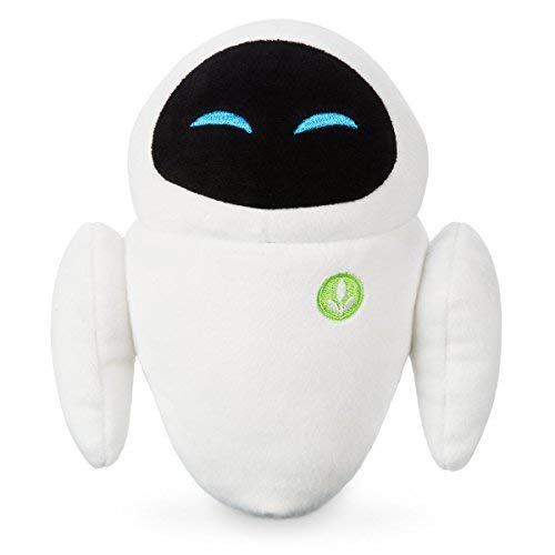 Wall-E EVE Plush Small Bean Bag Soft Toy Inspired by Pixar with Vegetation Logo