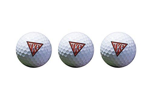 Tau Kappa Epsilon Color Printed Unique Golf Balls (Set of 3) Licensed Product TKE (Logo 2 Golf Balls)