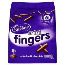 (Cadbury Mini Fingers Mini Bags 5 X 22G)