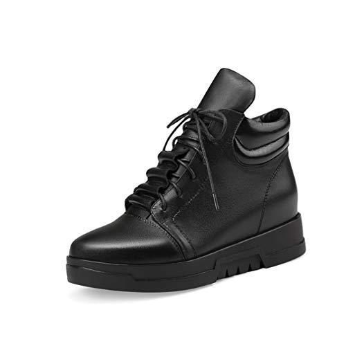 Da Donna Donna Martins Corsa Stivaletti Piatto Passegg In vinci Leather  Autunno Fondo Casual Comfort Black Pelle Studente Ginnastica Scarpe ... cd5dac5f729