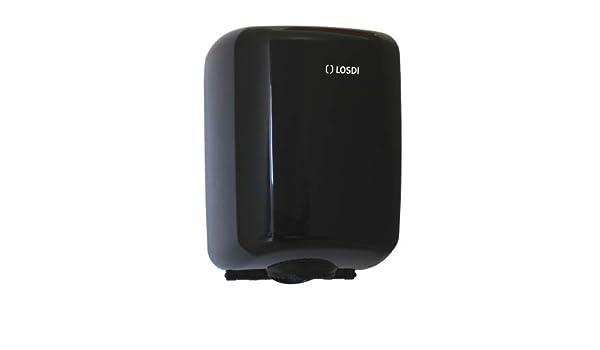 LOSDI - Dispensador Papel Mecha ABS Negro, Sistema Disp. Controlada, Elegance - CP0521CBLE: Amazon.es: Hogar
