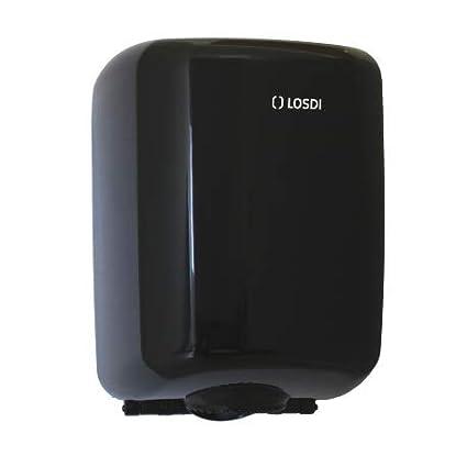 LOSDI - Dispensador Papel Mecha ABS Negro, Sistema Disp. Controlada, Elegance - CP0521CBLE