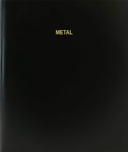 BookFactory® Metal Log Book / Journal / Logbook - 120 Page, 8.5