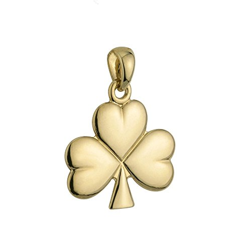 Solvar Irish Charm Shamrock Pendant 14K Gold No Chain Included Made in Ireland