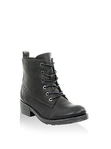 MOOW , Chaussures bateau pour femme noir Schwarz