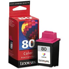 (Lexmark Compatible No. 80 High Resolution Color Ink Cartridge (275 Page Yield) (12A1980))