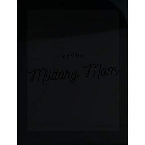 Military Mom Transparent Sticker - Proud