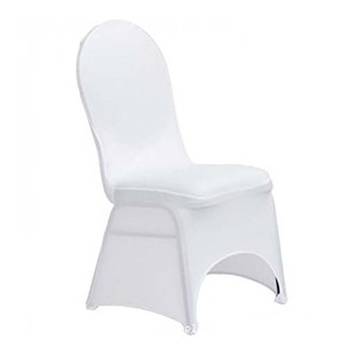 Polyester Spandex Wedding Chair Covers Elastic Face Arch