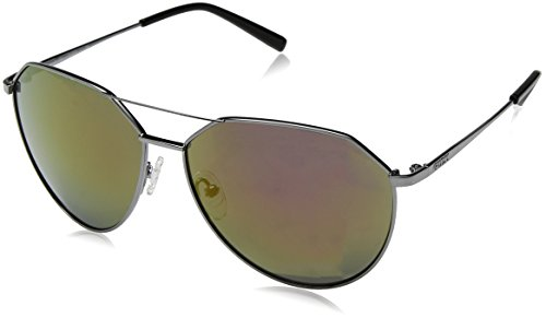GUESS Unisex GF0161 Shiny Gumetal/Bordeaux Mirror - Lv Womens Sunglasses