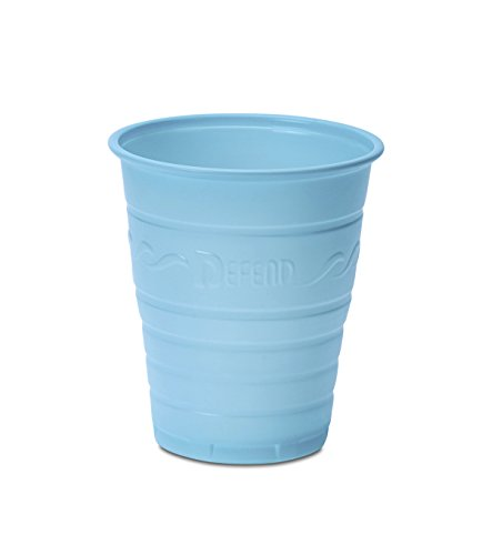 5oz Blue Dental Cups with Embossed Grip (50pk)