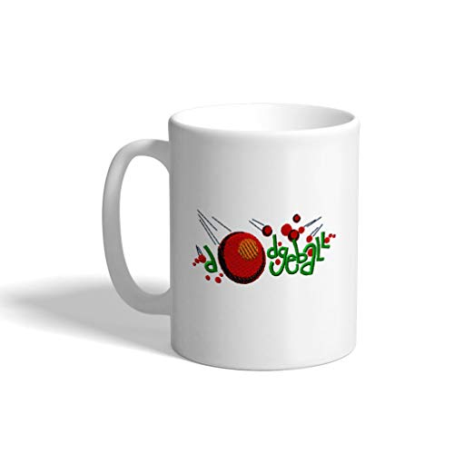 Ceramic Funny Coffee Mug Coffee Cup Sport Dodge Ball Logo 1 White Tea Cup 11 Ounces