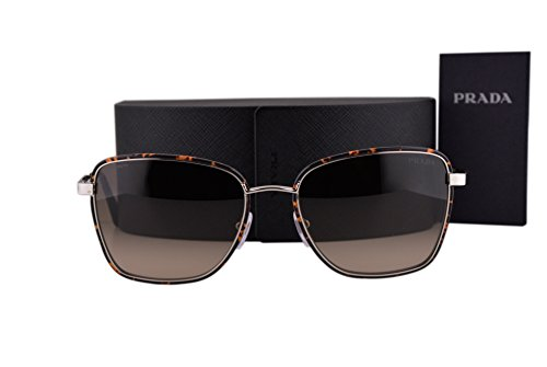 Prada PR52SS Cinema Sunglasses Dark Havana Silver w/Light Brown Gradient Lens 2AU3D0 SPR - Cat Eye Sunglasses 49mm Prada
