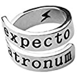 TBOP Metal Harry Potter Lightning Symbol Joint Ring for Men and Women(2.2x2.2cm, Silver)