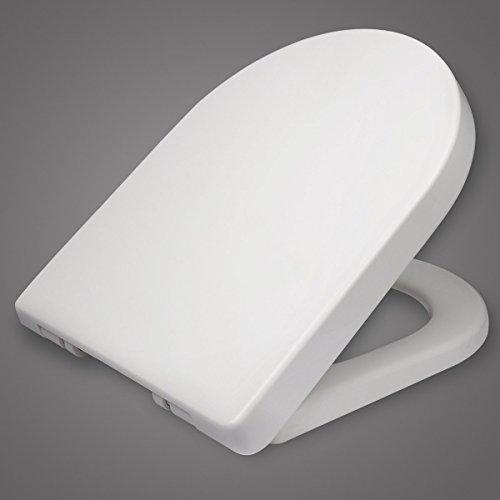 WOLTU WS2543 Toilettensitz Wc Sitz Absenkautomatik, Kunststoff, Fast Fix/Schnellbefestigung, Softclose Scharnier, Antibakteriell