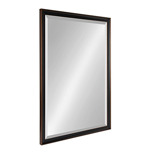Kate and Laurel Havana 26.5x38.5 Framed Beveled Wall Mirror, Oil Rubbed Bronze