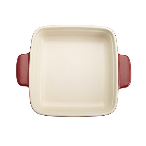 Pedrini Square Ceramic Baker (9 x 9-Inch, Red) by Pedrini (Image #1)