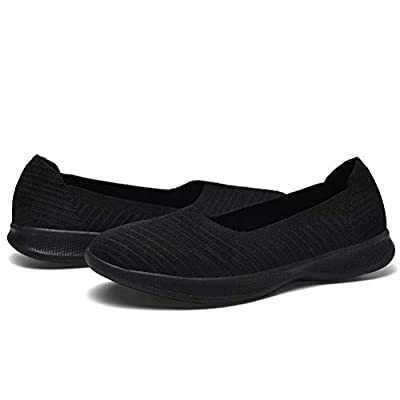 konhill Women's Slip on Flat-Comfy Walking Nurse Shoes | Shoes