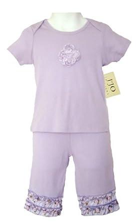 Jojo Designs Clothing   Jojo Designs 2 Piece Satin Ribbon Capri Outfit 18 To 24 Months