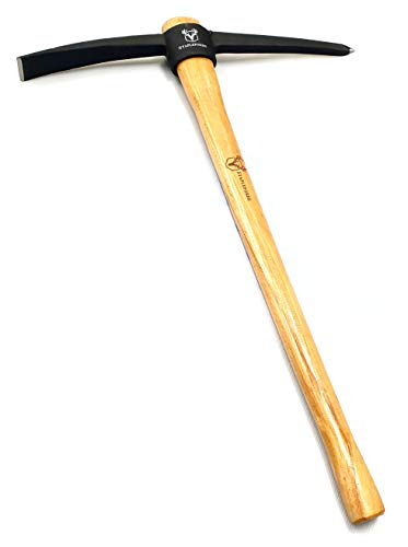 Staplefords Reinforced Steel Pick Axe with Shock Absorbing Hardwood Handle - 900mm length L