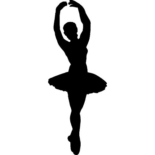 Azeeda A8 'Ballet Dancer Silhouette' Unmounted Rubber Stamp -
