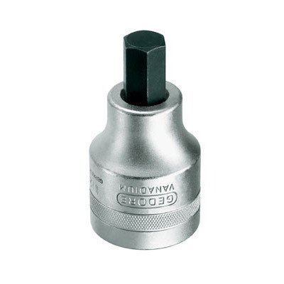 - Gedore 1'' Drive 19 mm Screwdriver Bit Socket for In-Hex Screw