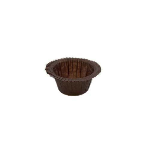 Novacart PBA Baking Cup, Brown (12000, 1-1/8'' Bottom Diameter, 1-1/8'' Side Wall)